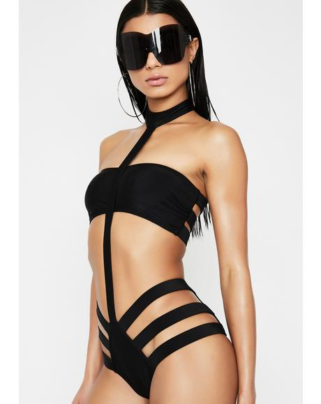 Hot In Hurrr Harness Bikini Set