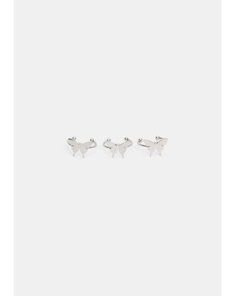 Winged Spectacle Ring Set