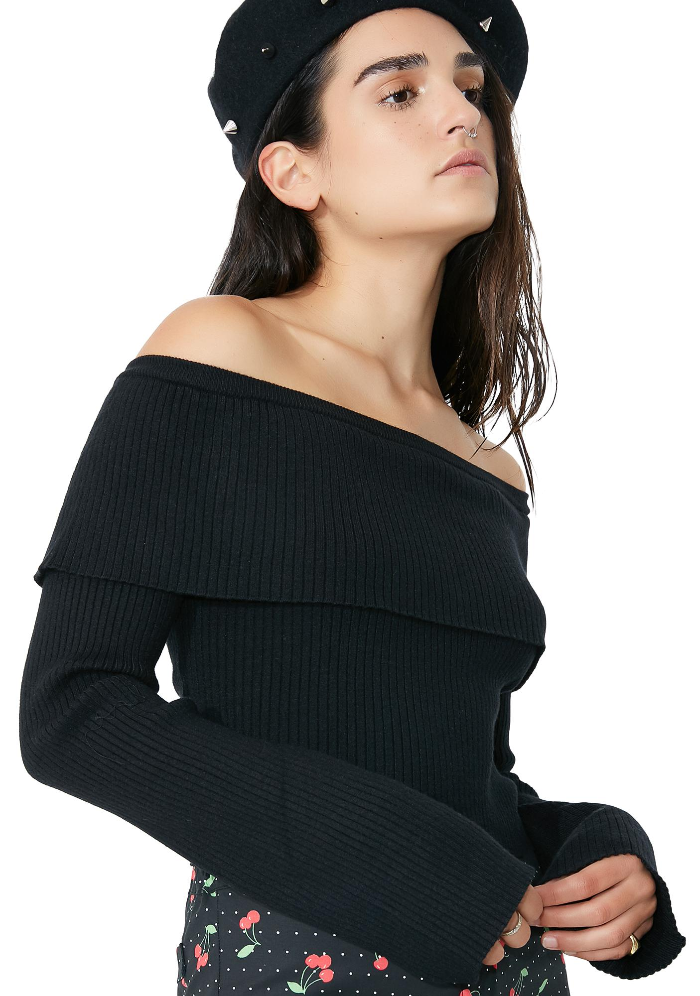 Great Minds Off The Shoulder Sweater