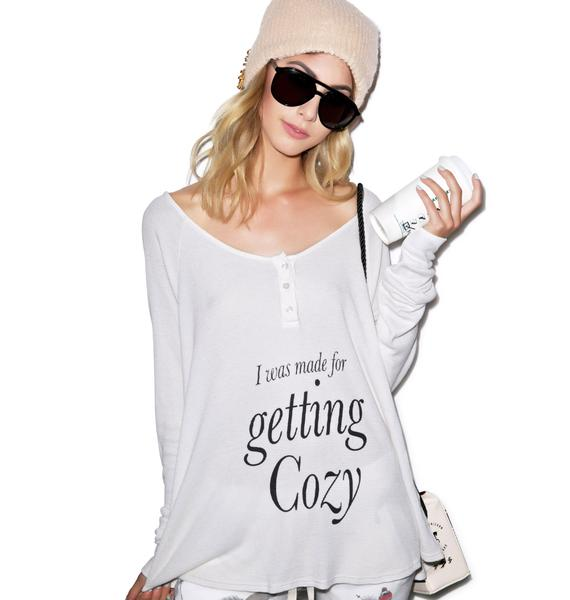 Wildfox Couture Get Cozy Lagoon Henley