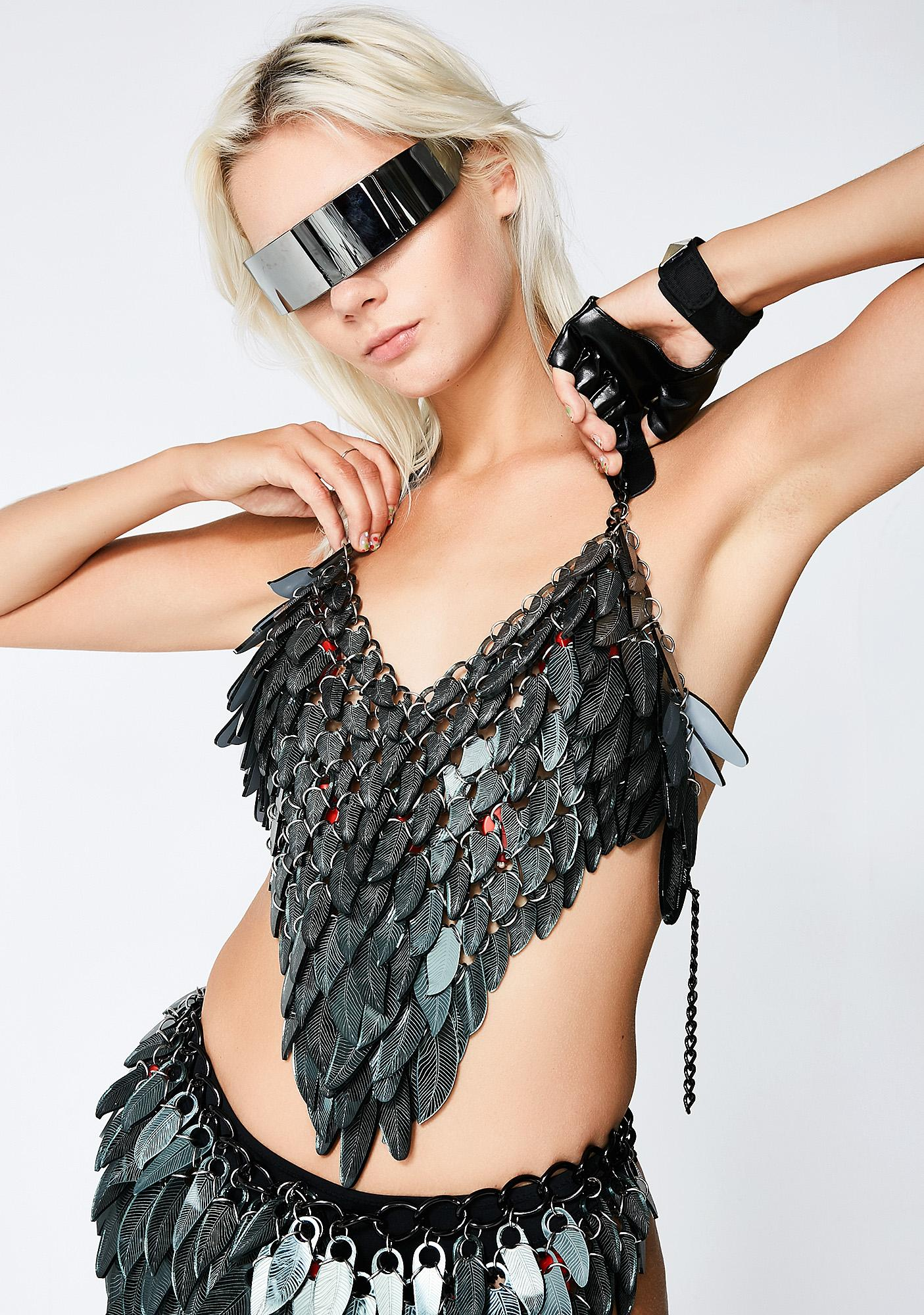 Electric Candy Couture Dragon Scale Halter Top