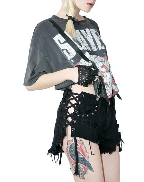 Low Scream Lace-Up Shorts