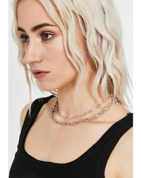 Double Danger Chain Choker