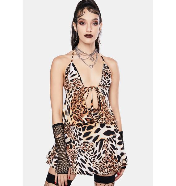 Soulan Zee Queen Leopard Tiana Halter Top