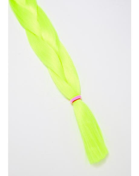 Neon Yellow Add In Hair Extensions