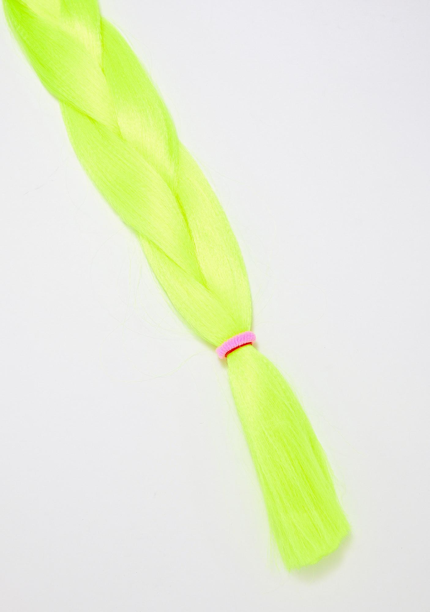 Go Get Glitter Neon Yellow Add In Hair Extensions
