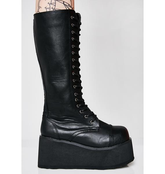 Demonia Stomp You Out Platform Boots