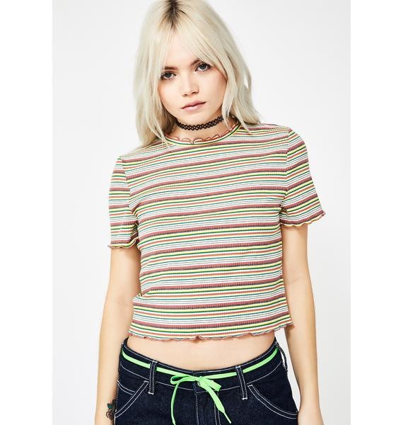 Blushin' Girl Talk Striped Tee