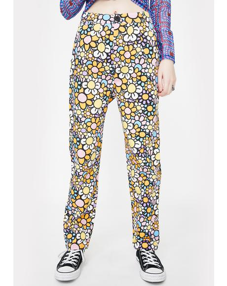 All The Flowers Peg Pants