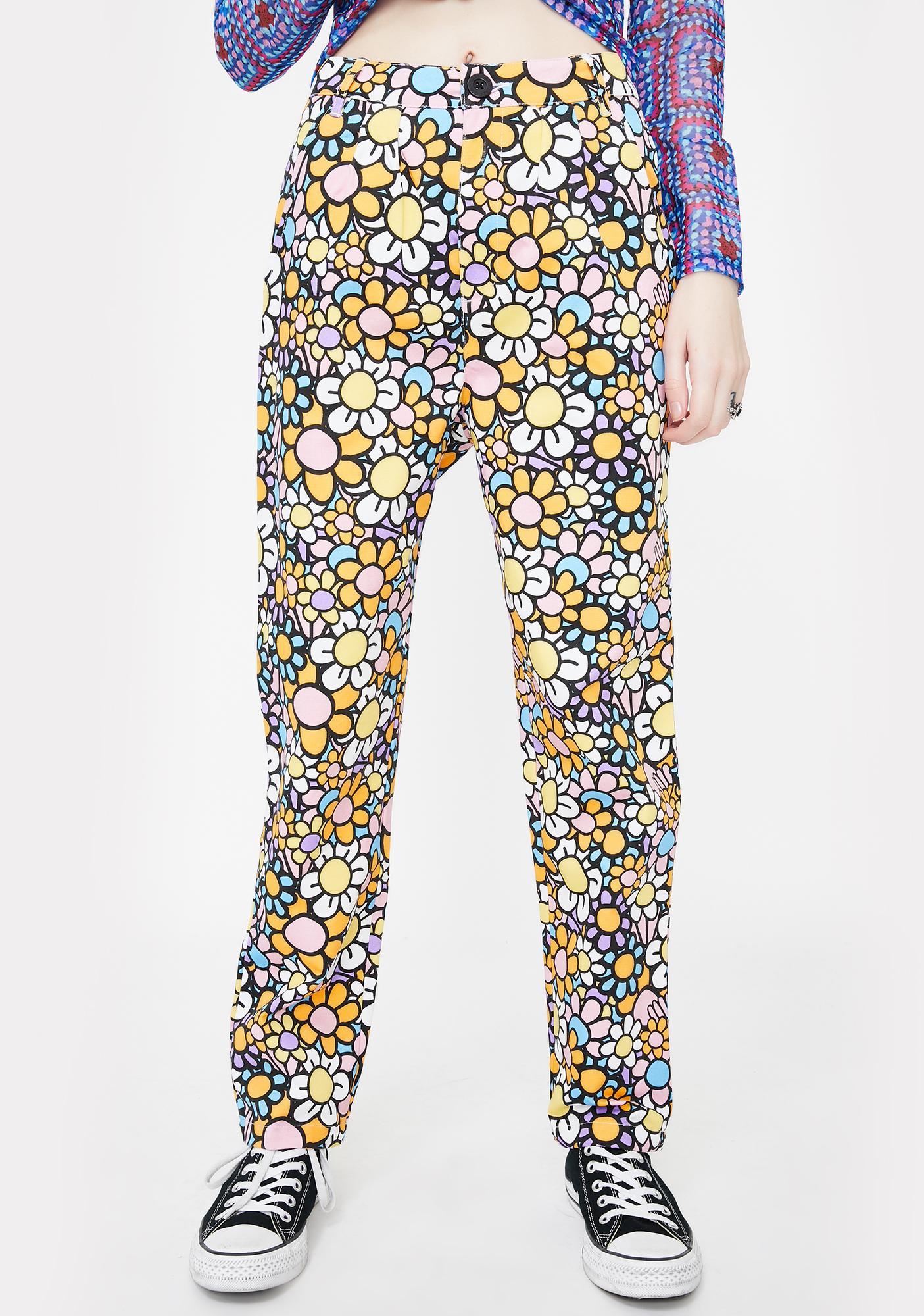 Lazy Oaf All The Flowers Peg Pants