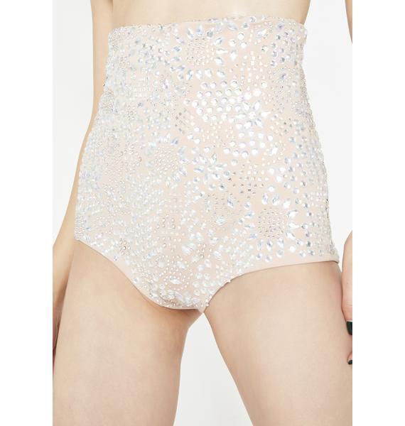 Kiki Riki Crystallized Chaos Sequin Shorts