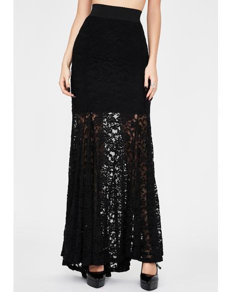 Morose Mystique Lace Skirt