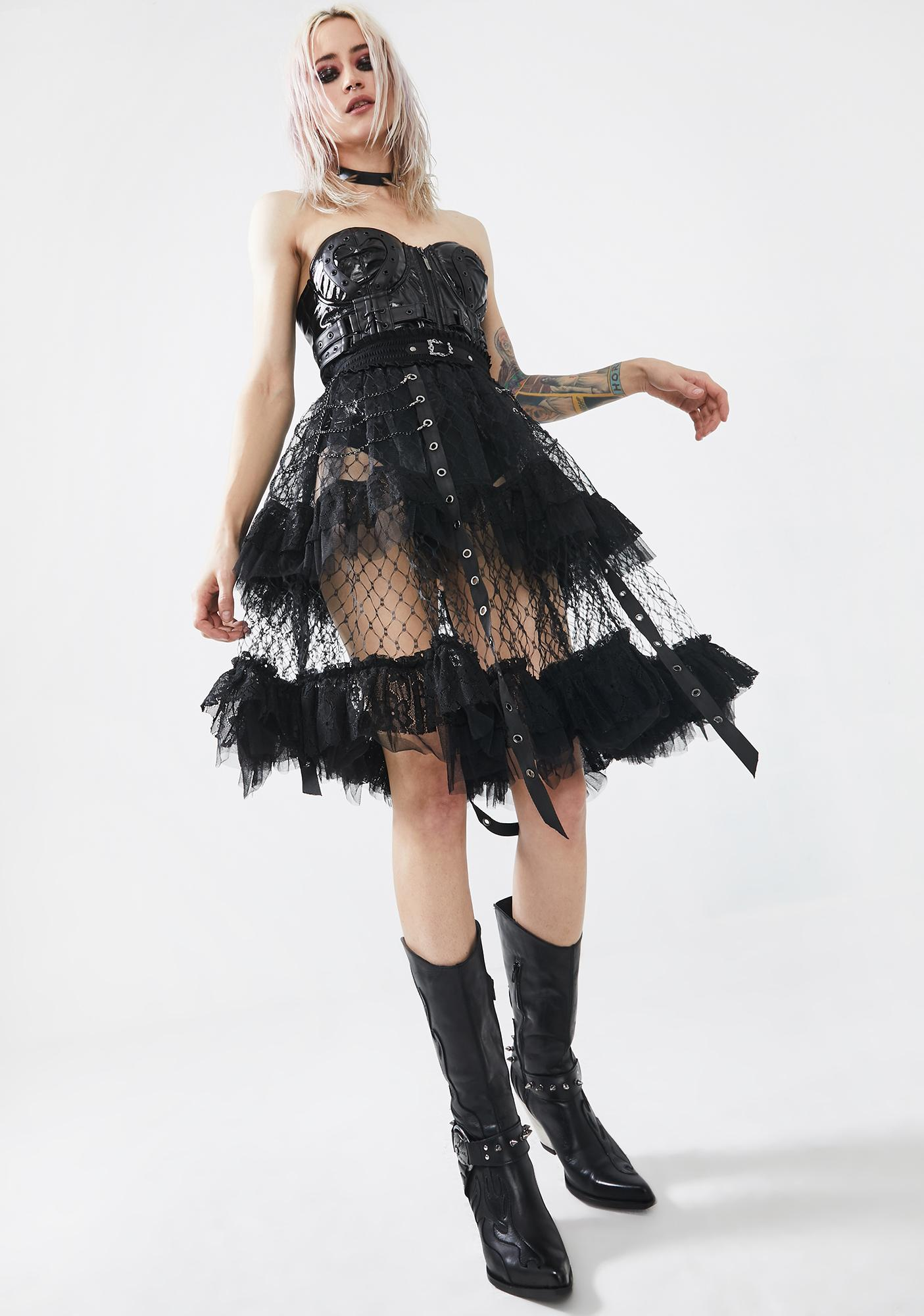 Punk Rave Lolitas Taboo Cage Skirt