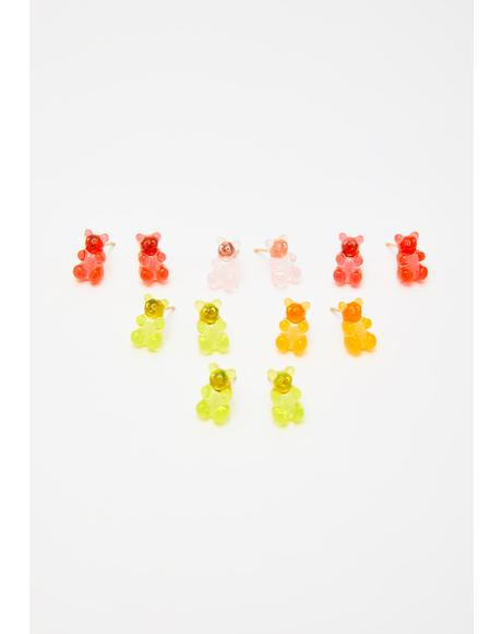 Beary Sweet Earring Set
