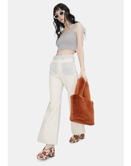 Shell Splice Sailor Wide Leg Jeans