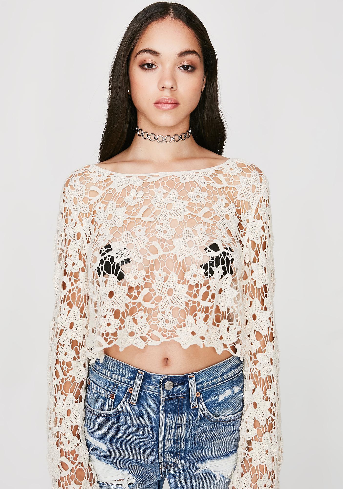 Poppin' Petals Crochet Top