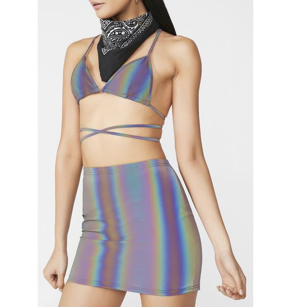 Club Exx Freak Of Nature Reflective Skirt