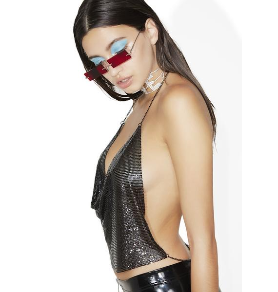Kiki Riki Midnight Luxe Life Halter Top