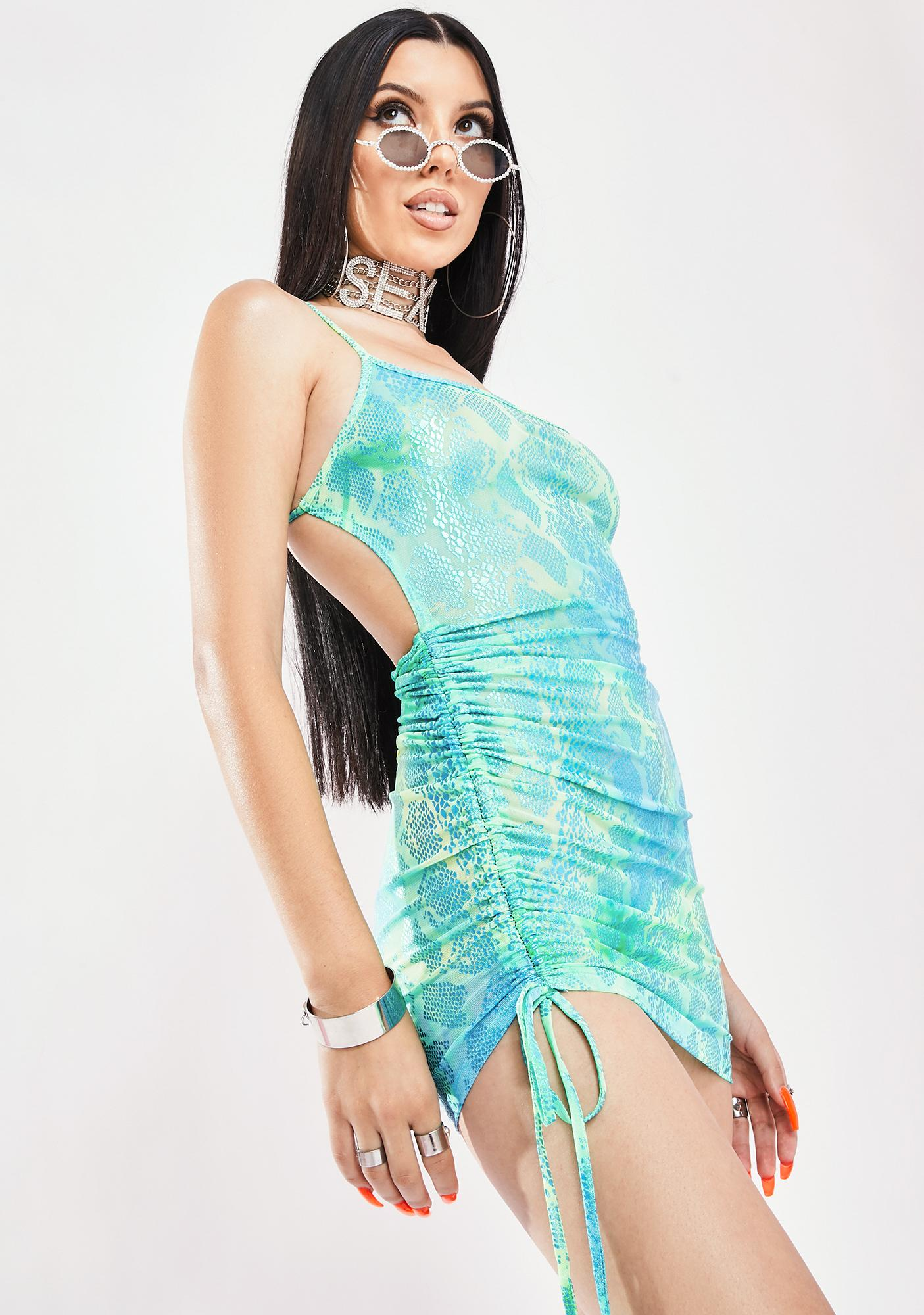 Aqua Take The Risk Mini Dress