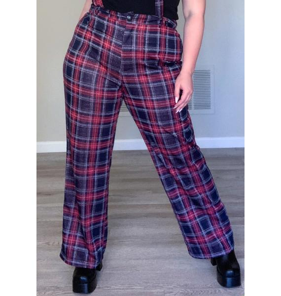 She's Heading Out Suspender Pants