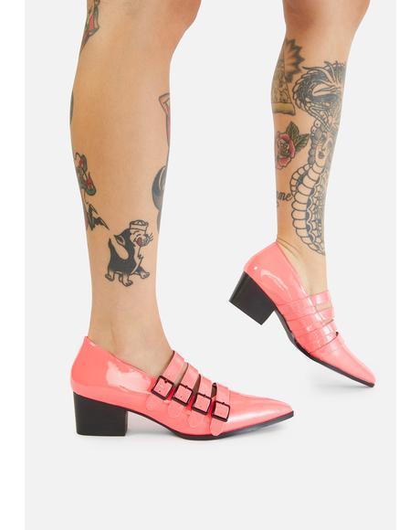Pink Coven Block Heels