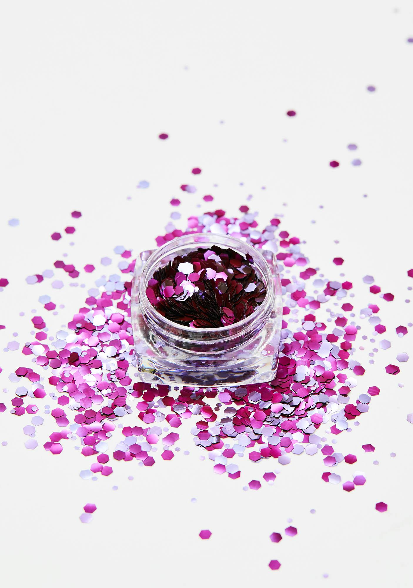 Glisten Cosmetics Biodegradable Chunky Purple Rain