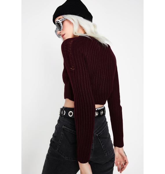 Gotta Deliver Crop Sweater