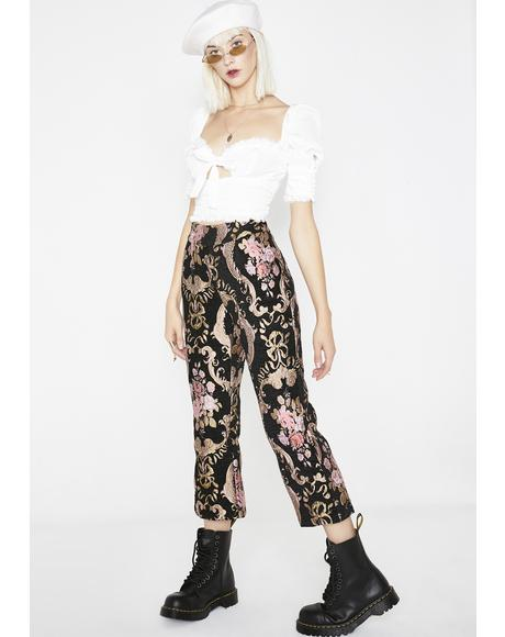 Brocade Flared Pants