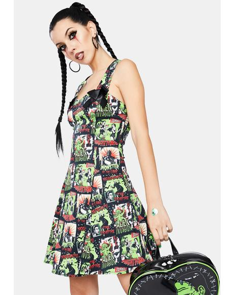 Horror B Movie Mini Dress