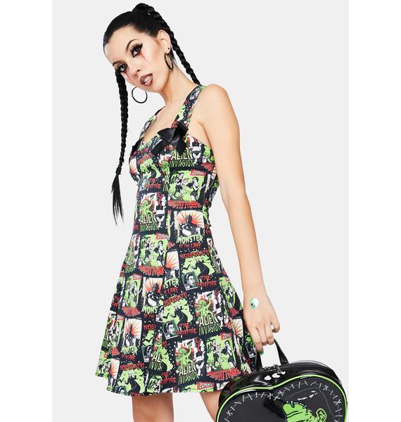 Dr. Faust Horror B Movie Mini Dress