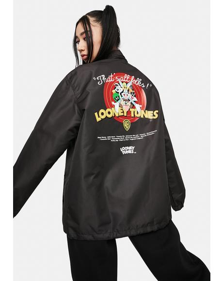 x Looney Tunes That's All Folks Coach Jacket