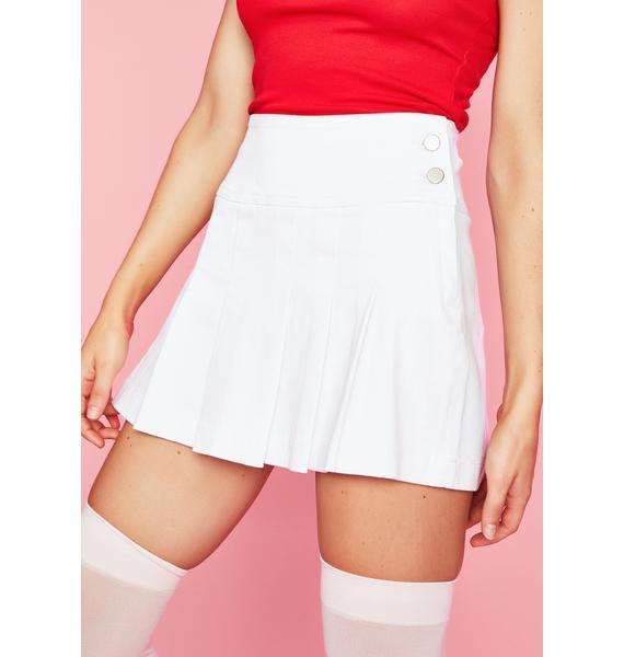 Sugar Thrillz Pure N' Ripe Pleated Skirt