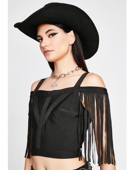 Untamed Rhythm Fringe Top