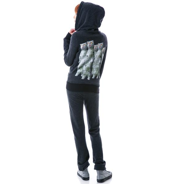 Wildfox Couture Zombie Cats Track Jacket