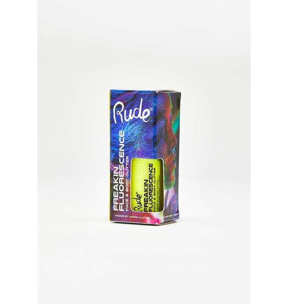 Rude Cosmetics Freakin Fluorescence Trance Dance UV Glitter