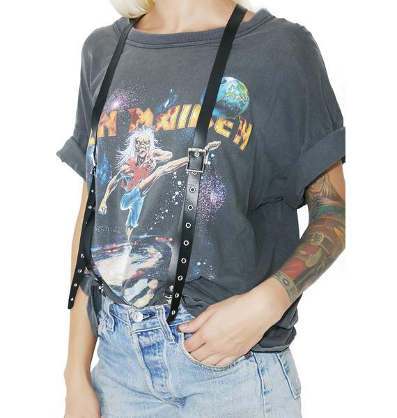 Catch Me Vegan Leather Suspenders