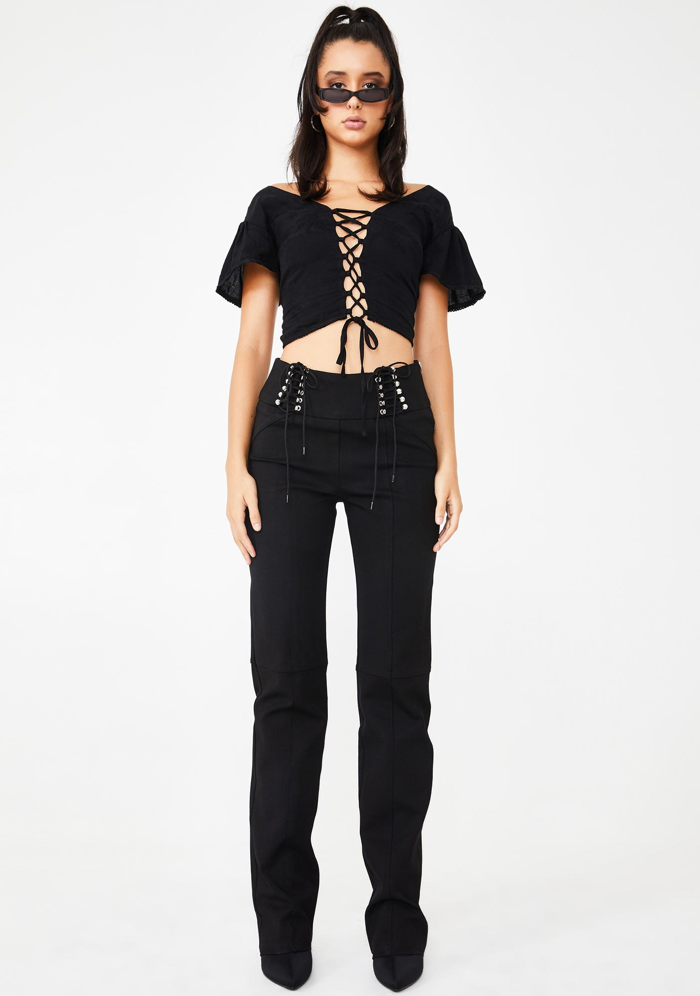 I AM GIA Gwenyth Lace Up Top