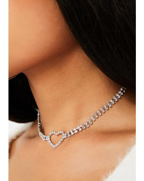 Posh Romance Rhinestone Necklace