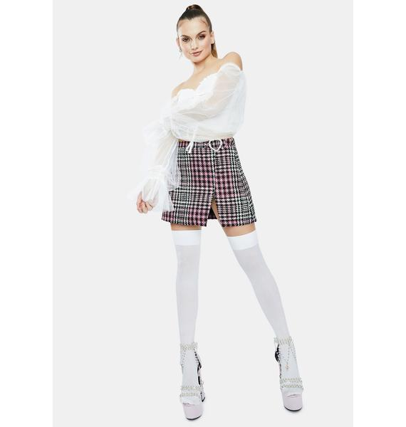 Angel Fall For Me Puff Sleeve Crop Top