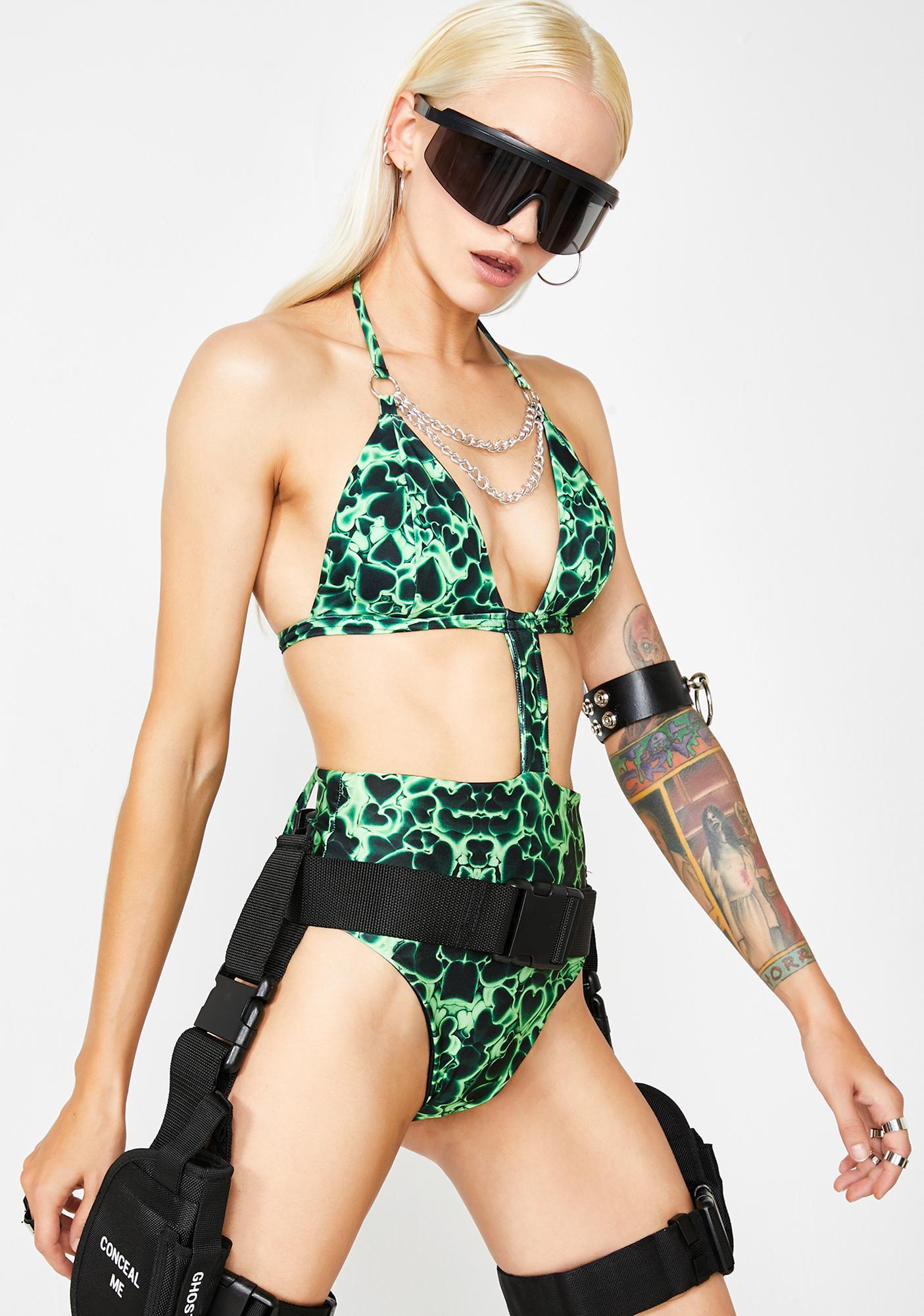 Soulan Zee I Heart Vera Chain Bodysuit