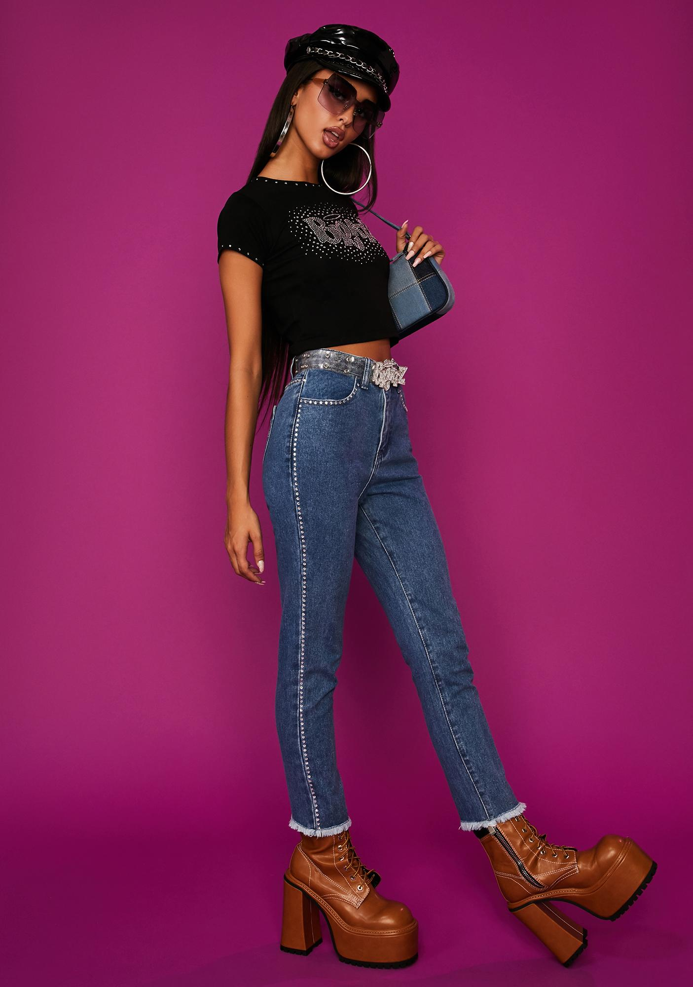 Dolls Kill x Bratz Lap Of Luxury Skinny Jeans