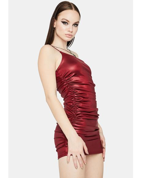 Dancefloor Fever Ruched Bodycon Dress