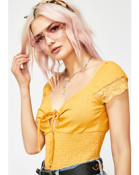 Honey In Session Ruched Blouse