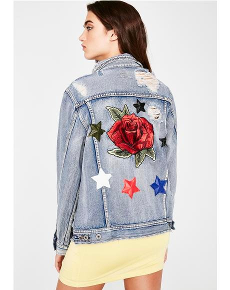 Patch Kid Denim Jacket