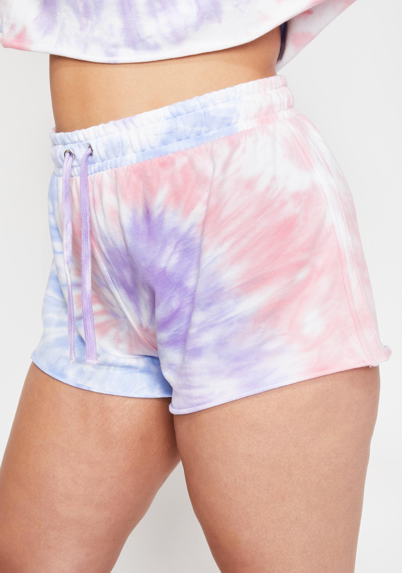 HOROSCOPEZ Dear Moody Mystic Tie Dye Shorts