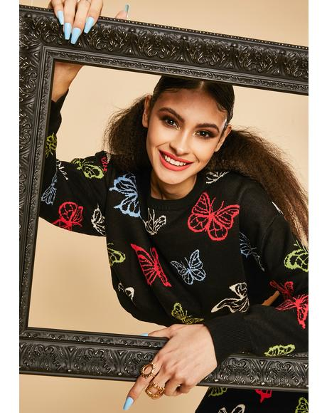 Magic Around Me Butterfly Sweater
