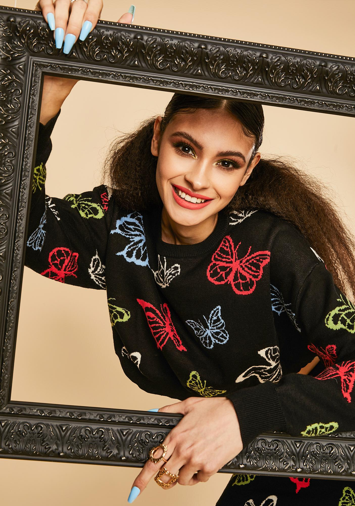 Current Mood Magic Around Me Butterfly Sweater