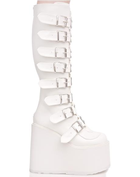 White Trinity Boots