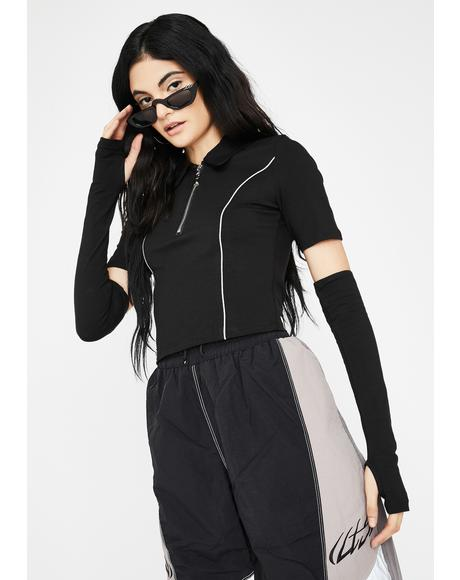 Logan Sleeves Reflective Top