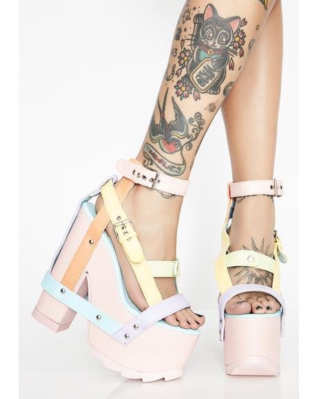 Pastel Nightcall Platform Heels